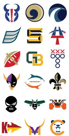 Minimalist NFL Logos by Matt McInerney