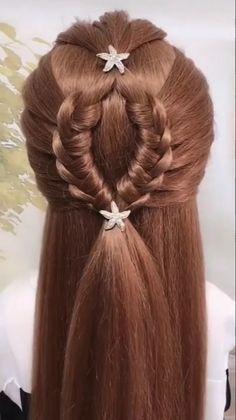 Hairstyles For Medium Length Hair Easy, Braids For Long Hair, Girl Hairstyles, Braided Hairstyles, Hairstyles Videos, Braids Easy, Office Hairstyles, Anime Hairstyles, Stylish Hairstyles