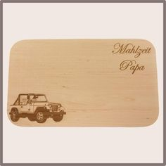 Jausenbrett Jeep Bamboo Cutting Board, Jeep, Father, Day, Small Wood Projects, Boards, Grilling, Food And Drinks, Gifts