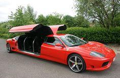 Stretch Ferrari . Interesting, wonder how it corners...