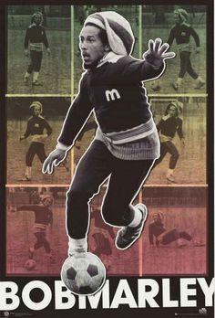 Bob Marley Rasta Soccer Poster 24x36 – BananaRoad