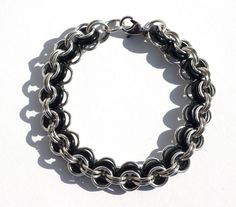 PrettyNett - unique handmade beaded jewelry: Herrenarmband - Alu und Glas