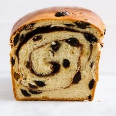 Cinnamon-Raisin Swirl Bread recipe on Food52 Cinnamon Bun Recipe, Cinnamon Raisin Bread, Cinnamon Rolls, Fresh Bread, Sweet Bread, Yeast Bread Recipes, Bagels, Croissants, Food 52