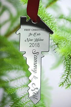 e218d50676b Personalised Christmas Tree Decoration - Xmas Bauble Engraved Gift - First  Christmas in OUR New Home
