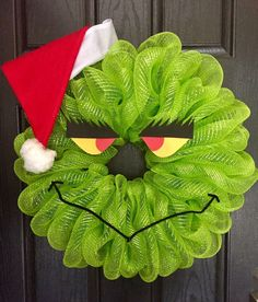 Deco mesh grinch 25 Beautiful Christmas Wreaths More DIY Homemade Evergreen Wreath Instructions-Christmas … DIY Christmas Wreaths Ideas Christmas Wreath Ideas! Wreath Crafts, Diy Wreath, Christmas Projects, Holiday Crafts, Wreath Ideas, Deco Mesh Crafts, Santa Wreath, Snowman Wreath, Deco Mesh Wreaths
