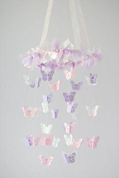Kleiner Schmetterling Mobile Pink Lavendel &