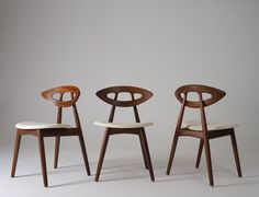 """Set Of Six Chairs, Model """"Eye Chair"""" By Ejvind A Johansson"""