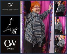 GI JO adore la capuche joli camaïeu de bleu pour cette veste capuchon by OLIVIER WARTOWSKI chez PARIS NEW YORK à SAINT-LO