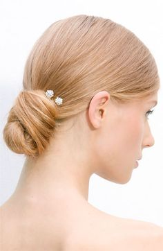 hair & a simple touch of sparkle created by her hair accessory (Tasha Crystal Hair Picks - Set of 2, nordstrom, 28)
