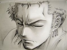 this is a very good drawing of Zoro! I am totally impressed/