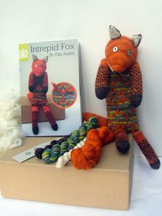Intrepid Fox Knit Kit by BomBella on Etsy, £24.00