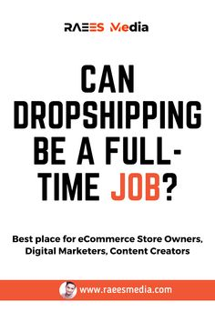 Dropshipping is an extremely popular business model for new entrepreneurs. Furthermore, since you don't need to stock or handle the items you are selling, it's possible to start a dropshipping business with limited funds. That being said, can dropshipping be a full-time job? Well, if you create a store that's successful enough, then it's absolutely possible! Drop Shipping Business, Ecommerce Store, Digital Marketing, The Creator, Handle, Popular, Canning, Sayings, Create