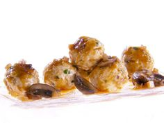 Chicken Marsala Meatballs recipe from Giada De Laurentiis via Food Network