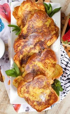 A breakfast staple the very Best French Toast recipe starts with the very best ingredients Hearty bread fresh eggs cream vanilla cinnamon and a little secret I like to ke. Awesome French Toast Recipe, Best French Toast, French Toast Bake, French Toast Casserole, French Toast Recipes, French Bread French Toast, Vanilla French Toast, Homemade French Toast, Gastronomia