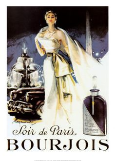Soir De Paris IV Art Print Bourjois Advertisement $14.99