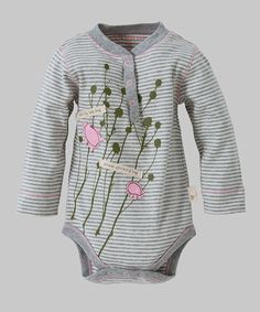Look at this Ivory Ladybug Organic Henley Bodysuit - Infant on #zulily today!