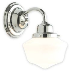 Single Reardan Wall Sconce, Polished Nickel, $236. Avail for $156 at designersupplyhouse.com. $118 @ DB. Use in hallways