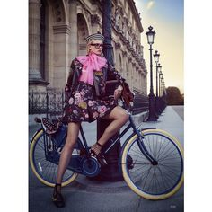 Tour de France Charlene Hogger for Elle Magazine by David Burton ❤ liked on Polyvore featuring models and photo