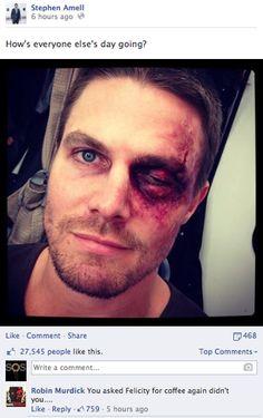 Arrow - 2 - You asked Felicity for coffee again didn't you. hahaha XD