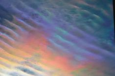 Oily, watery, rainbowy clouds in St. Paul, MN. Photo by CythiaSue. For more photos, visit wunderground.com