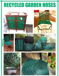 Just some great ideas for using that old water hose.