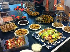 Food on a Stick Potluck. This is a fabulous idea and was so fun doing!! Do this for your next gathering!