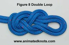 "Tutorial on Double Figure 8 Loop (""Bunny Ears"") Tying"