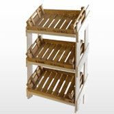Retail Wooden Stand & 3 Reclaimed Chitting Trays