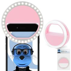 Pink 36 LED Round Shape Clip On Selfie Ring Light Professional Photography Pictures for Nokia 3 *** Learn more by visiting the image link. (This is an affiliate link and I receive a commission for the sales) #CellphoneLensAttachments