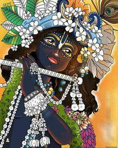 Arte Krishna, Radha Krishna Photo, Krishna Photos, Krishna Love, Iskcon Krishna, Krishna Mantra, Krishna Bhajan, Krishna Drawing, Radha Krishna Wallpaper
