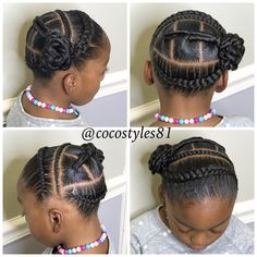 30 Easy Kids' Hairstyles That Any Parent Can Totally Pull Off - Childrens Hairstyles, Lil Girl Hairstyles, Cute Braided Hairstyles, Natural Hairstyles For Kids, Natural Hair Styles, Black Hairstyles, Curly Hairstyles, African American Kids Hairstyles, Toddler Hairstyles