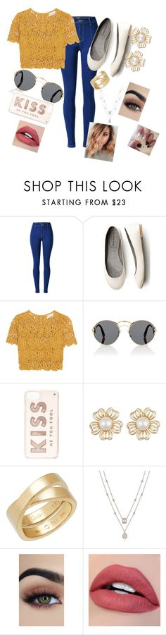 """""""Kiss me you fool"""" by abbytherose ❤ liked on Polyvore featuring Miguelina, Prada, Kate Spade and Cartier"""