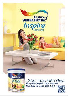 SONNHA.DEP.ASIA Bảng màu sơn Dulux Inspire trong nhà