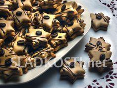 Hvězdičky cappuccino s polevou Cookies, Christmas, Crack Crackers, Xmas, Biscuits, Navidad, Cookie Recipes, Noel, Natal