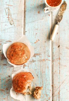 Earl Grey Poppy Seed Muffins recipe - cake it in jelly bc it's rather dry ☆☆
