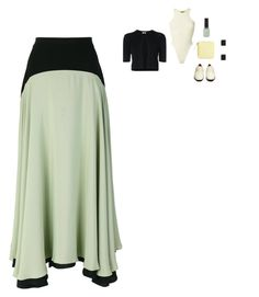 """""""Christopher Kane - Two-Tone Full Skirt Style"""" by twinklebluegem on Polyvore featuring The Row, Akris Punto, Yeezy by Kanye West, Christopher Kane and BAGGU"""