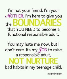 """so tough but so true ... we are not here to be their friends ... cant stand when parents say """"my kids are my best friends"""" ... your a role model not a partner in crime #parentup"""