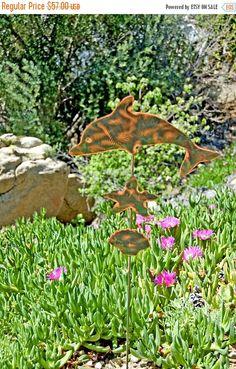Angel Metal Yard Art Garden Plant Stake Copper Garden Art