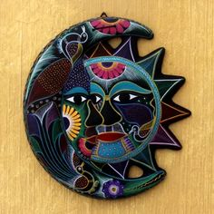 Buy Ceramic wall adornment, 'Eclipse of Dance' today. Shop unique, award-winning Artisan treasures by NOVICA, in association with National Geographic. Each original piece goes through a certification process to guarantee best value and premium quality. Red Ink Tattoos, Sun Tattoos, Cover Up Tattoos, Sun Moon Stars, Sun And Stars, Father Daughter Tattoos, Outdoor Wall Art, Indoor Outdoor, Dot Art Painting