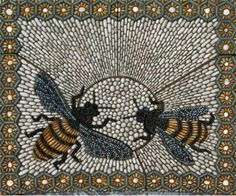 Pebble mosaic.  Beautiful!