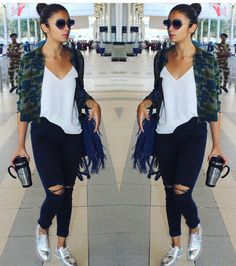 Trendy how to wear casual outfits chic shirts ideas White Shirt And Jeans, Ripped Jeans, Fall Jeans, Travel Outfit Summer, Summer Outfits, Travel Outfits, Summer Travel, Travel Clothes Women, Clothes For Women