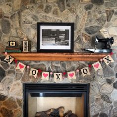Valentines Day Bunting Flag