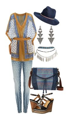A fashion look from September 2015 featuring vintage dresses, mid rise jeans and Wet Seal. Tribal Dance, Sigerson Morrison, Wet Seal, Women's Clothing, Boho, Clothes For Women, Woman, Polyvore, House