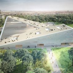 SANAA Selected Over Snøhetta to Design New National Gallery of Hungary Angular Architecture, Factory Architecture, University Architecture, Library Architecture, Architecture Sketchbook, Cultural Architecture, Futuristic Architecture, Concept Architecture, Amazing Architecture