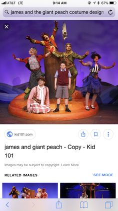 James And The Giant Peach Costume, James And Giant Peach, Costume Design, Spider, Costumes, Kids, Young Children, Apparel Design, Spiders