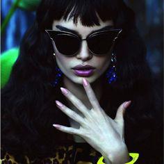 Celebrity Cat Eye Women Fashion Sunglasses Oversized Metal Frame Retro Shades  #TopExclusive #CatEye