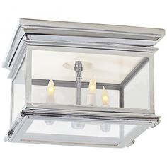Club Large Square Flush Mount in Polished Nickel