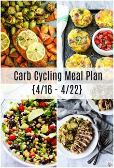Carb Cycling Meal Plan {3/26 – 4/1} | confessionsofacookbookqueen.com | Bloglovin' Detox Meal Plan, Diet Plan Menu, Detox Meals, Food Plan, Healthy Carbs, Healthy Eating, Carb Cycling Meal Plan, Keto Regime, Diet Recipes