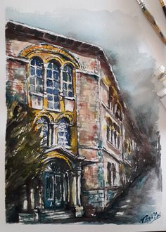 Personalized Watercolor from photo, Painting of your home, Buildings portrait, First Gift, Custom House Drawings, Original watercolor. Realtor Gifts, House Drawing, Hand Sketch, Watercolor Artwork, Cool Lighting, Custom Paint, Custom Homes, Watercolors, Beauty