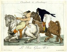Le Bon Genre / Cavalcade de Longchamps, 1801  © The Trustees of the British Museum